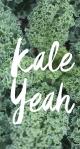 kale yeah i'm vegan phone wallpaper