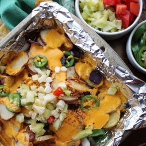 Loaded Tater Nachos (P.S., they're vegan!)