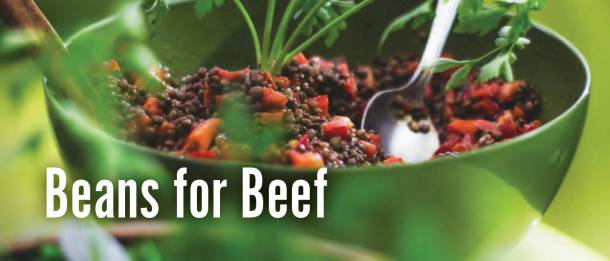 Swap beans for beef for veganism