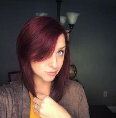 maroon hairmermaid hair